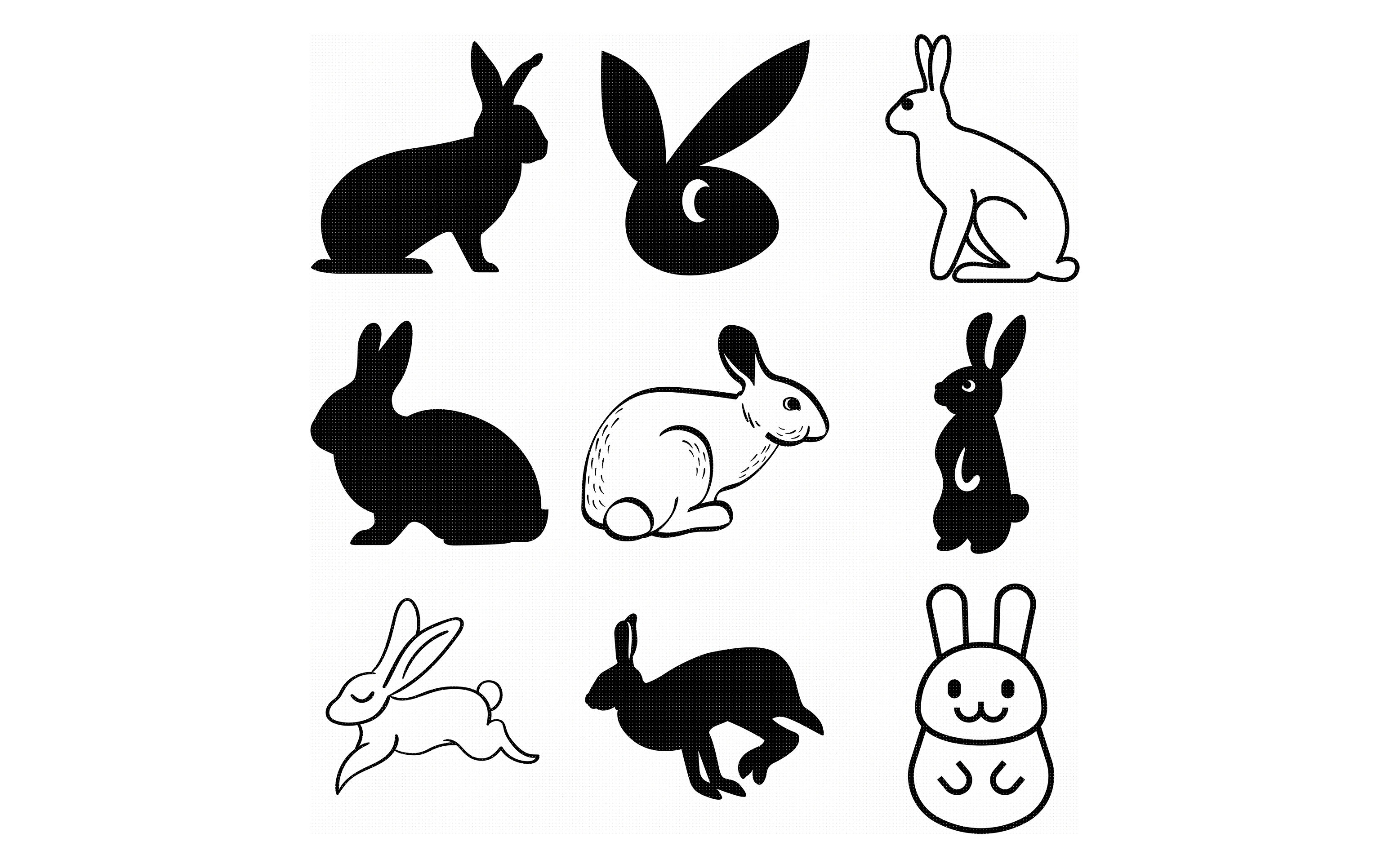 Bunny Rabbit Hare Svg File Dxf Free Svg Cut File Instant