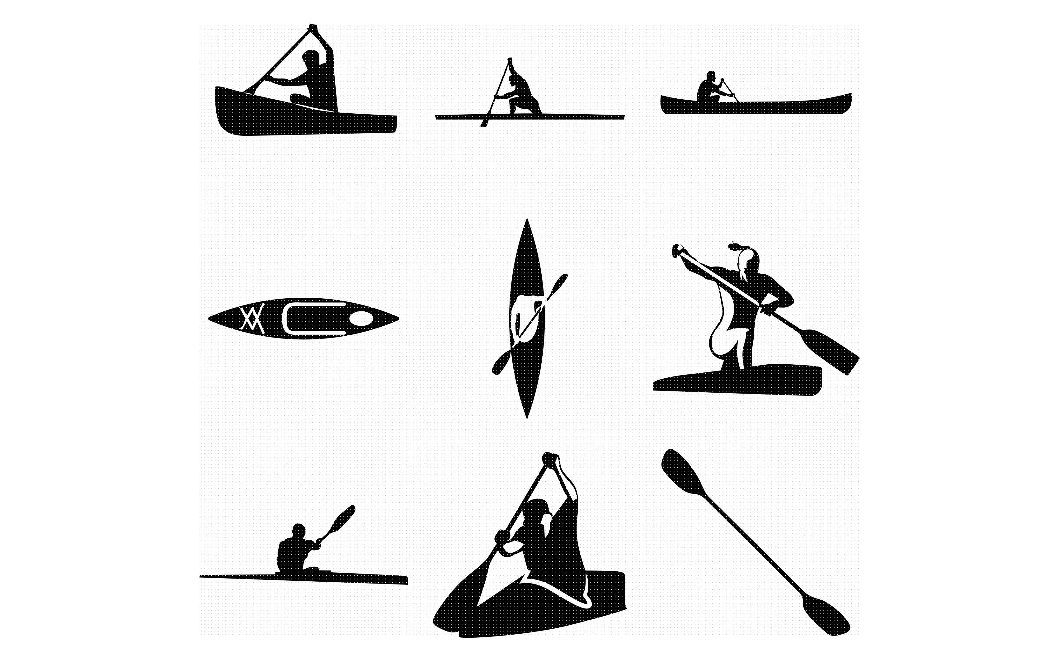 Download canoe, kayak, canoeing, kayaking, SVG file, DXF, free SVG ...