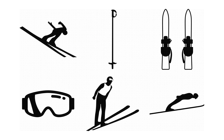Skiing Svg Files Skiing Image File Skiing Cutting Clipart Skiing Clipart Skiing Printable Images Skiing Svg Vector