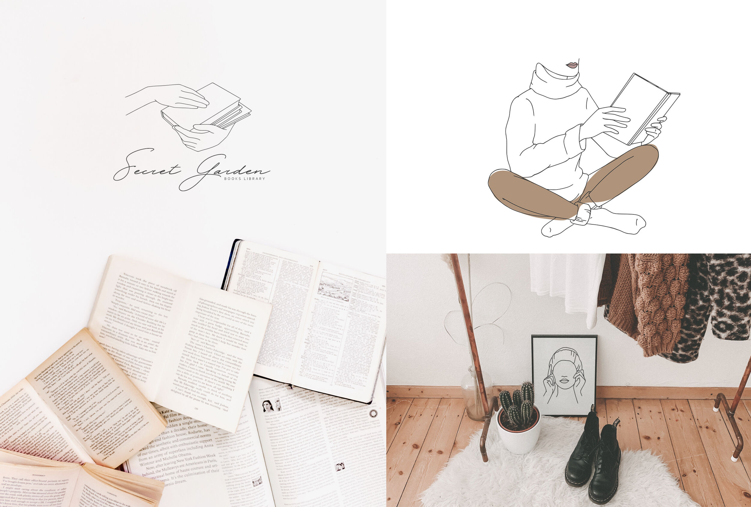 Cozy Mood Line Art Collection By Anmark Thehungryjpeg Com