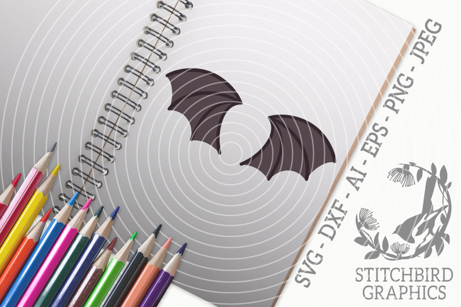 Bat Wings Svg Silhouette Studio Cricut Eps Dxf Ai Png Jpeg