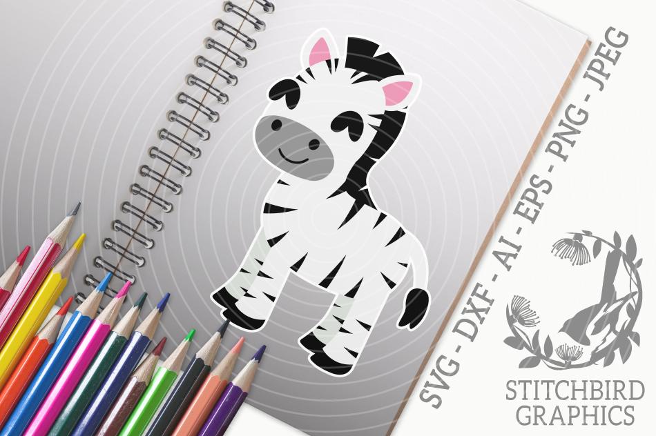 Cute Baby Zebra Svg Silhouette Studio Cricut Eps Dxf Ai Png