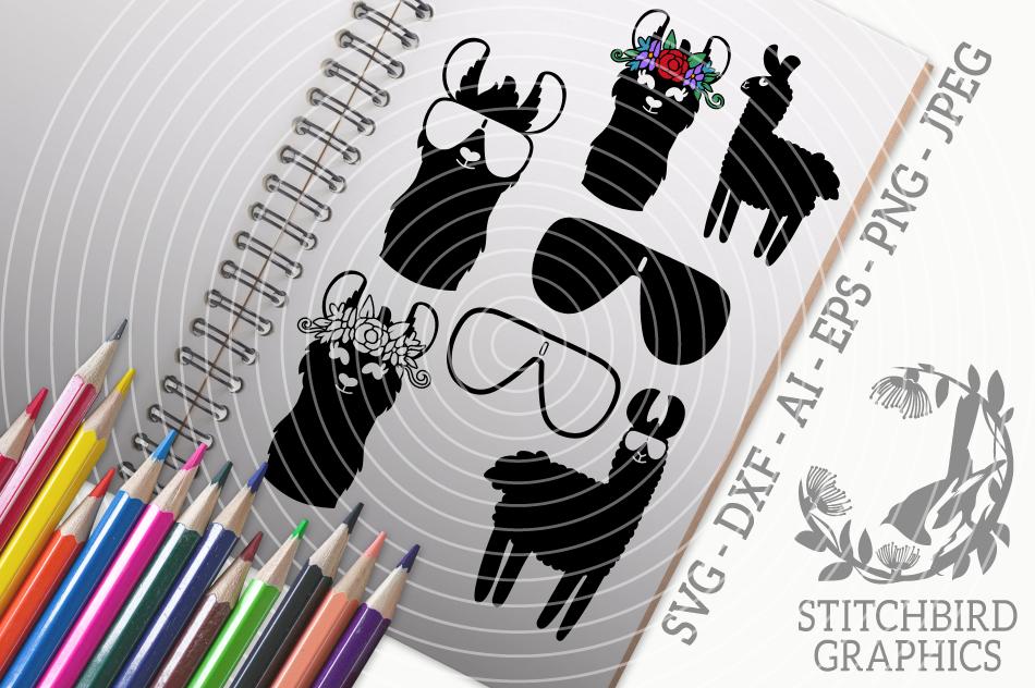 Llamas Svg Silhouette Studio Cricut Eps Dxf Png Jpeg By