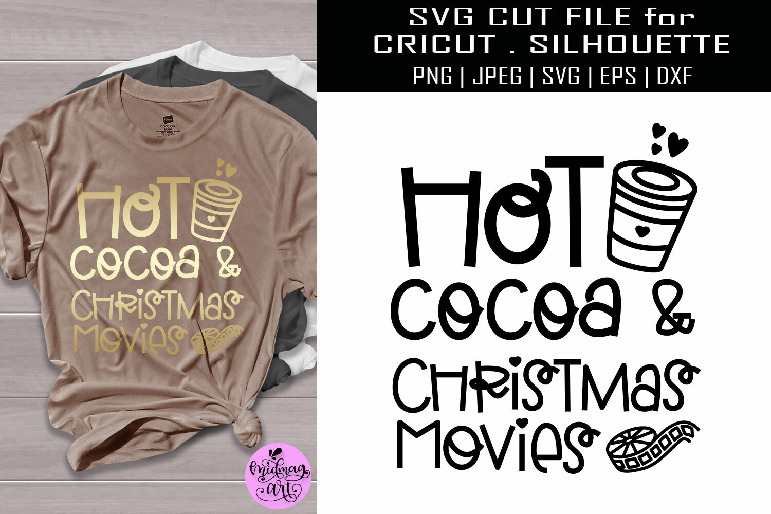 Hot Cocoa And Christmas Movies Svg Christmas Shirt Svg By