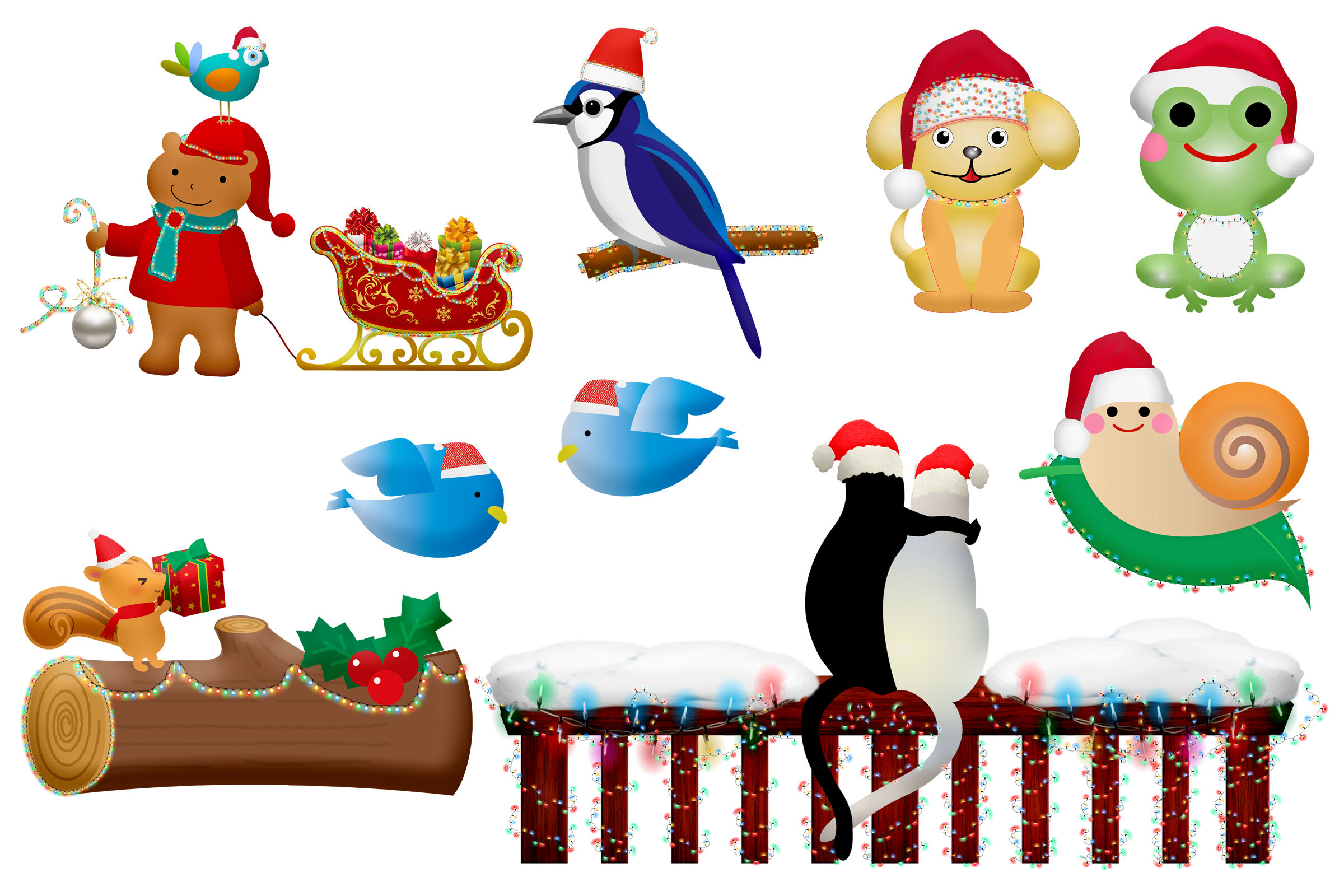 Christmas Animals Clip Art By Me and Ameliè ...