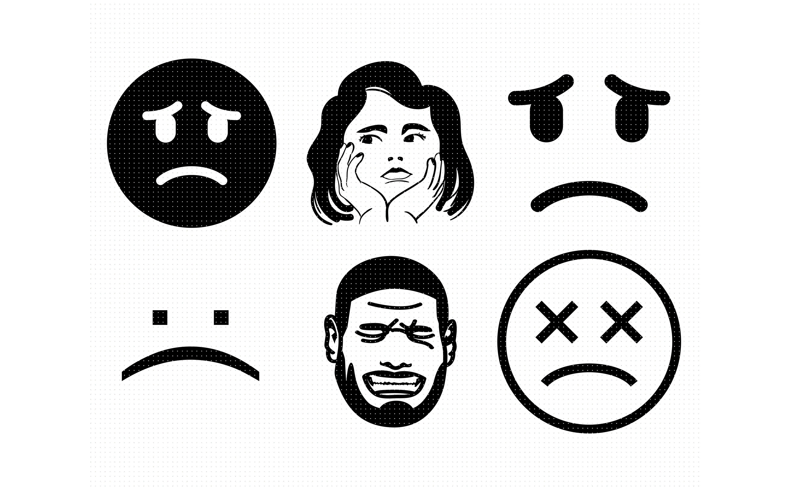 Png Download Collection Of Crying Face High Quality - Angry Emoji Black And  White Png Clipart (#348074) - PinClipart