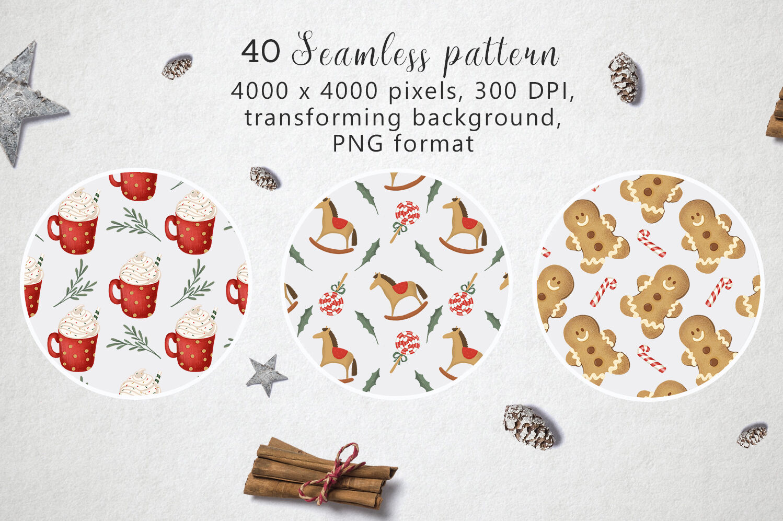 Christmas Pattern Bundle By By Anna Sokol Thehungryjpeg Com