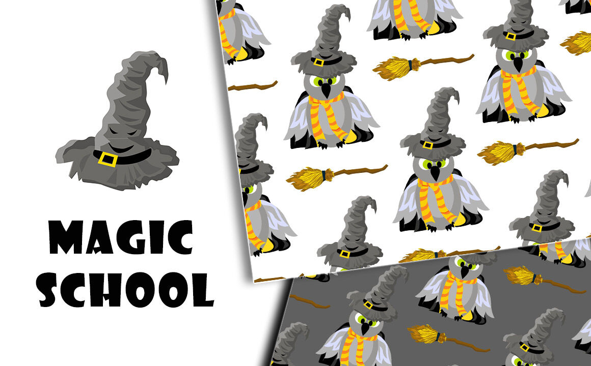 Magic School A Set Of Patterns Hogwarts And Harry Potter By