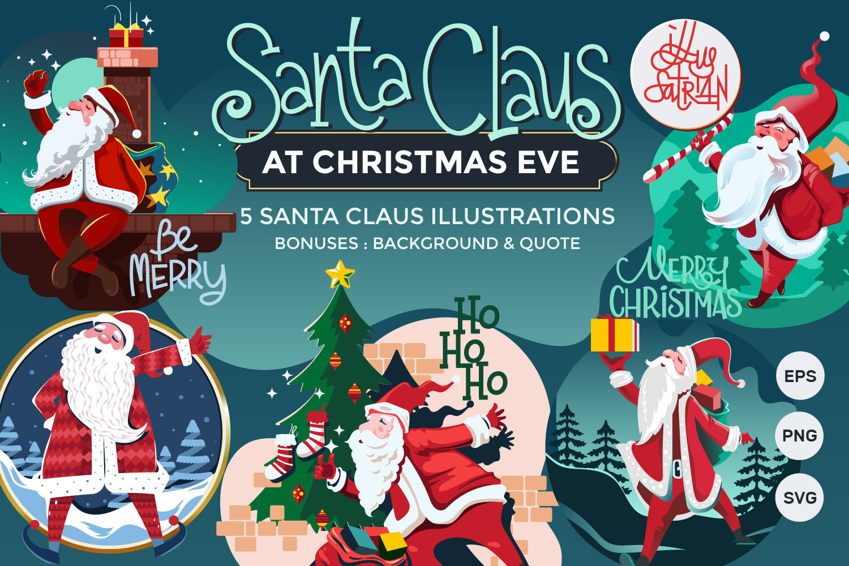 Santa Claus At Christmas Eve By Illusatrian Thehungryjpeg Com