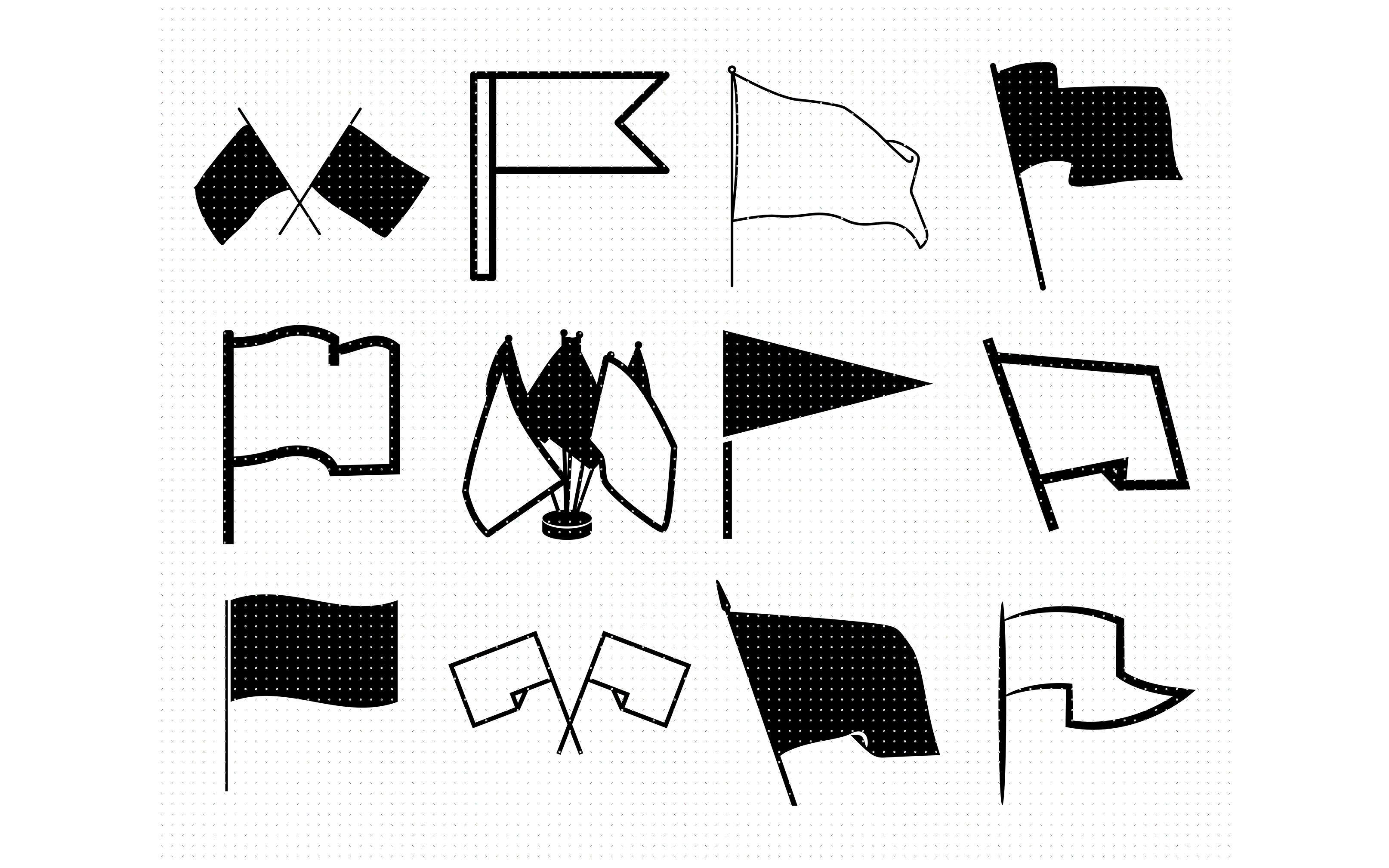 Blank Flag Outline Svg Dxf Vector Eps Clipart Cricut