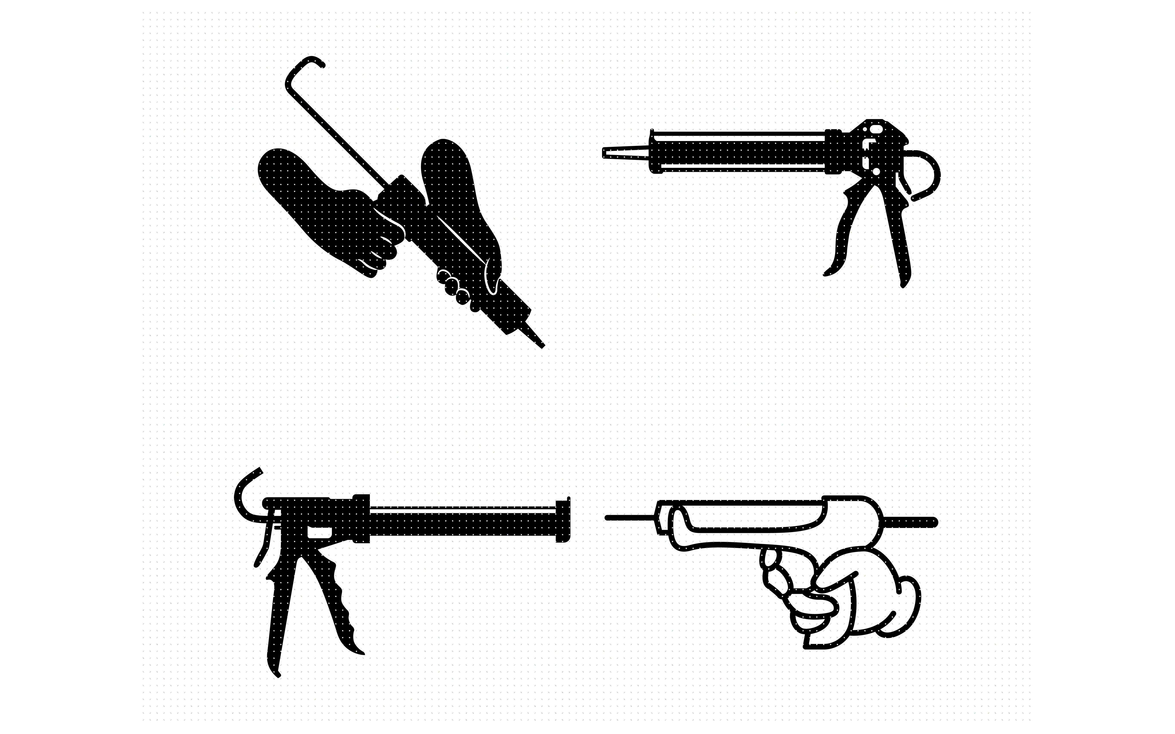 Caulk Gun Caulking Adhesive Svg Dxf Vector Eps Clipart