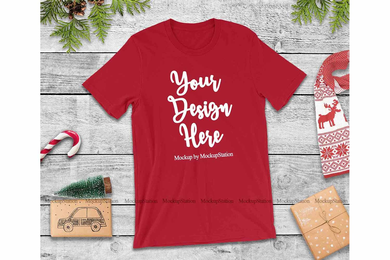 Bella Canvas 3001 Christmas Tshirt Mockup Bundle By Mockupstation