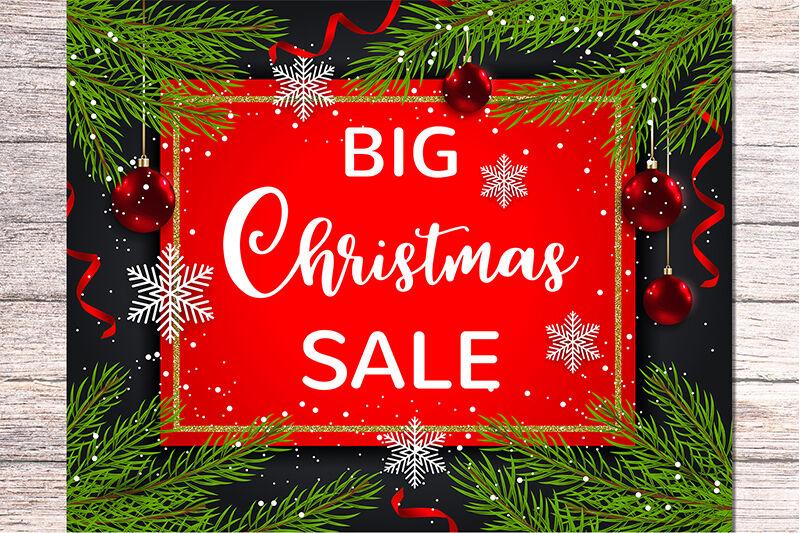 Seasonal Christmas Sale Background By Artspace Thehungryjpeg Com