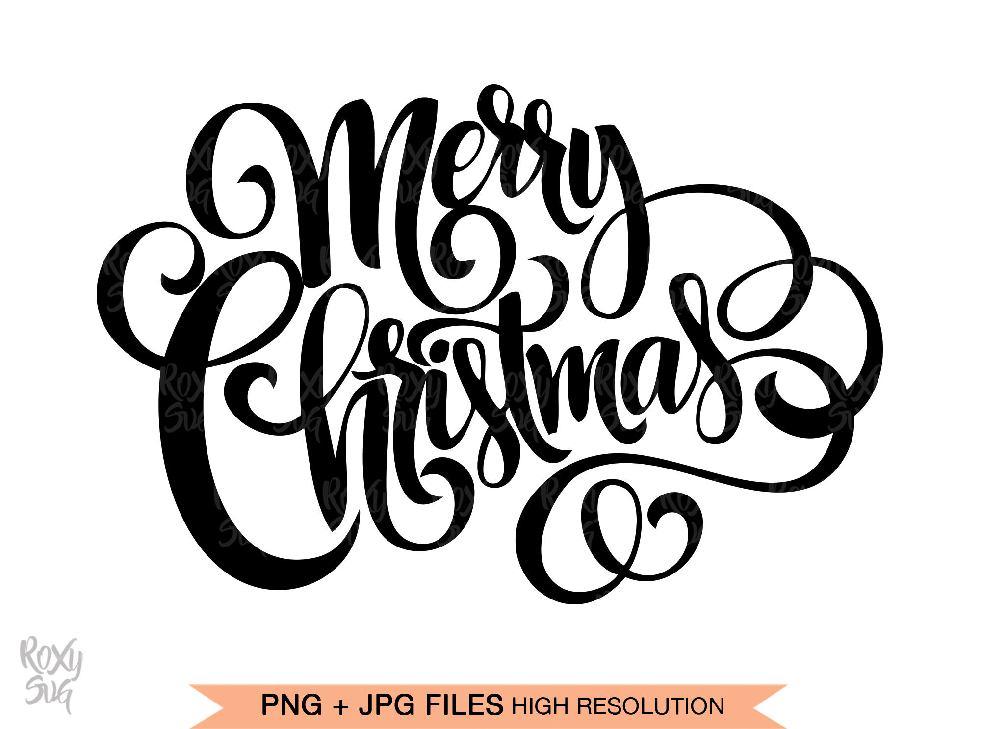 Download Merry Christmas SVG files for Cricut, Merry Christmas hand ...
