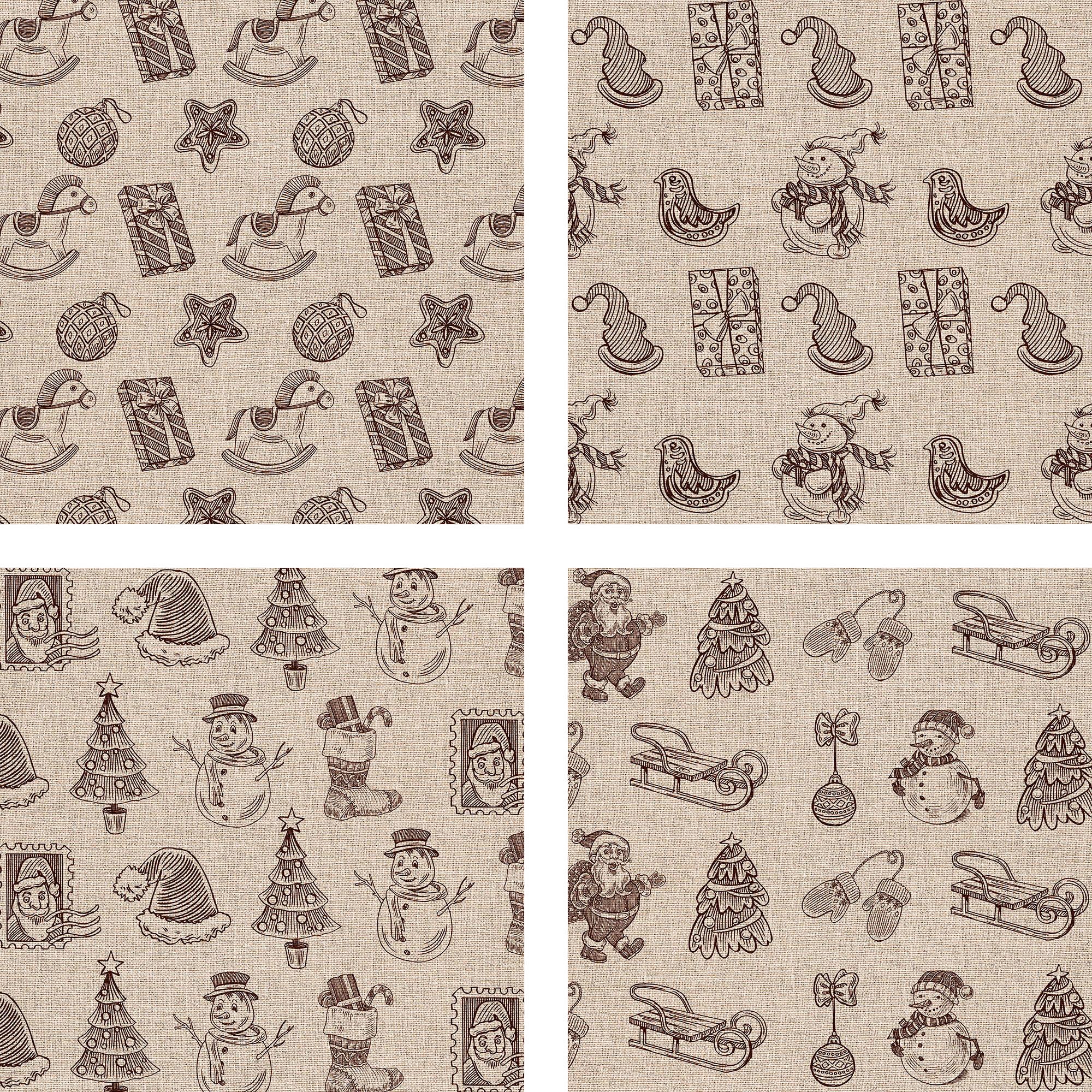 Vintage Christmas Digital Paper By North Sea Studio