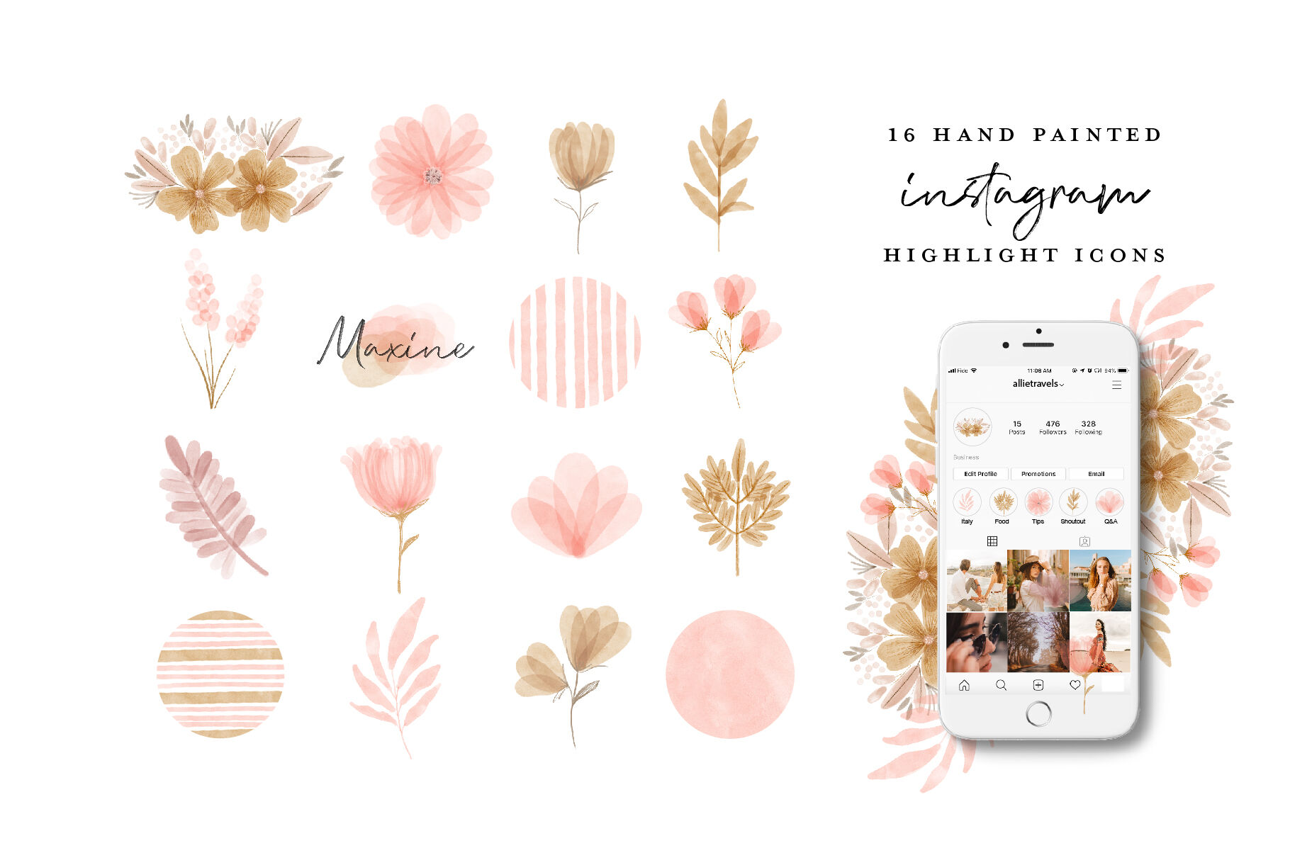 Download Instagram Highlights Mockup Free Yellow Images
