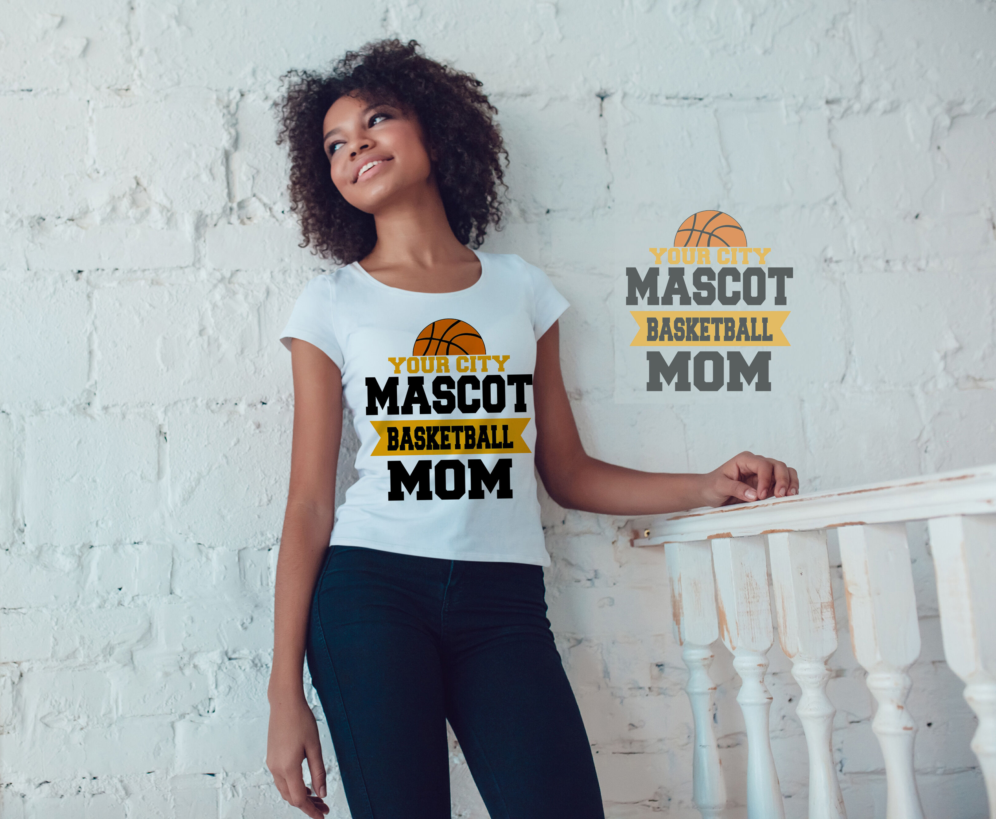 Basketball Mom Mascot Svg Dxf Eps And Jpg Files For Cutting Ma By Digital Files Mania Thehungryjpeg Com