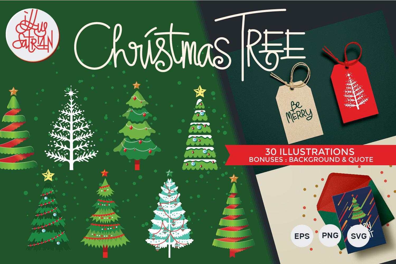 Christmas Tree Set By Illusatrian Thehungryjpeg Com