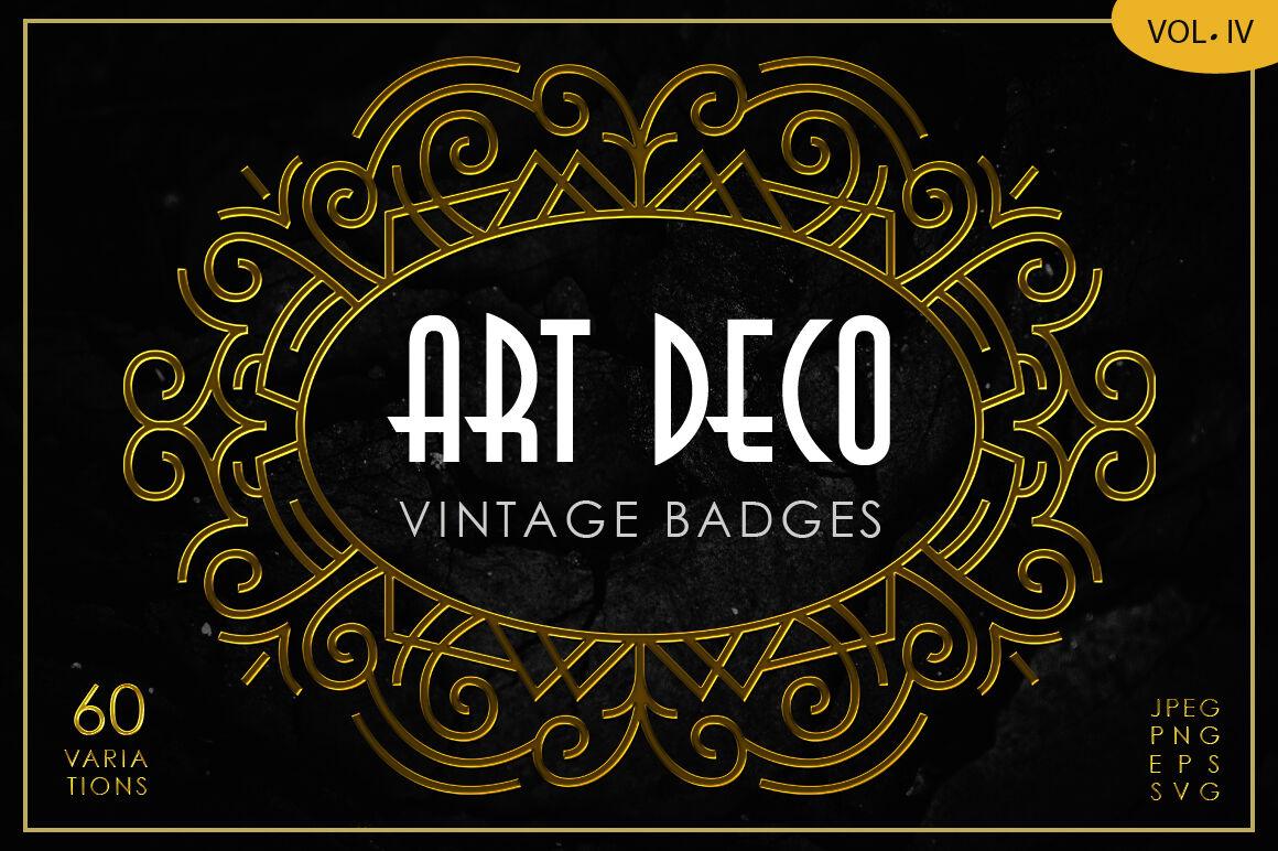 Art Deco Vintage Badges Vol Iv By Arterfak Project