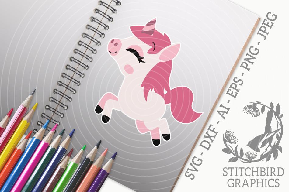 Cute Unicorn 2 Svg Silhouette Studio Cricut Eps Dxf Ai By