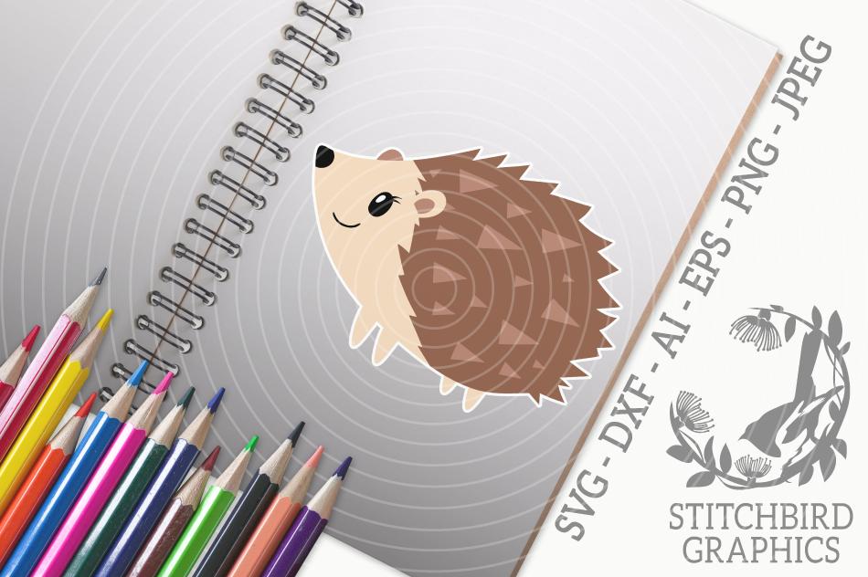 Cute Hedgehog Svg Silhouette Studio Cricut Eps Dxf Ai By Stitchbird Graphics Thehungryjpeg Com