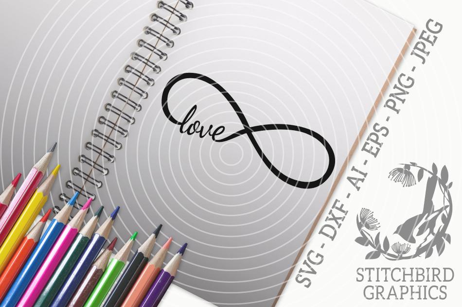 Infinity Love Svg Silhouette Studio Cricut Eps Dxf Ai Png