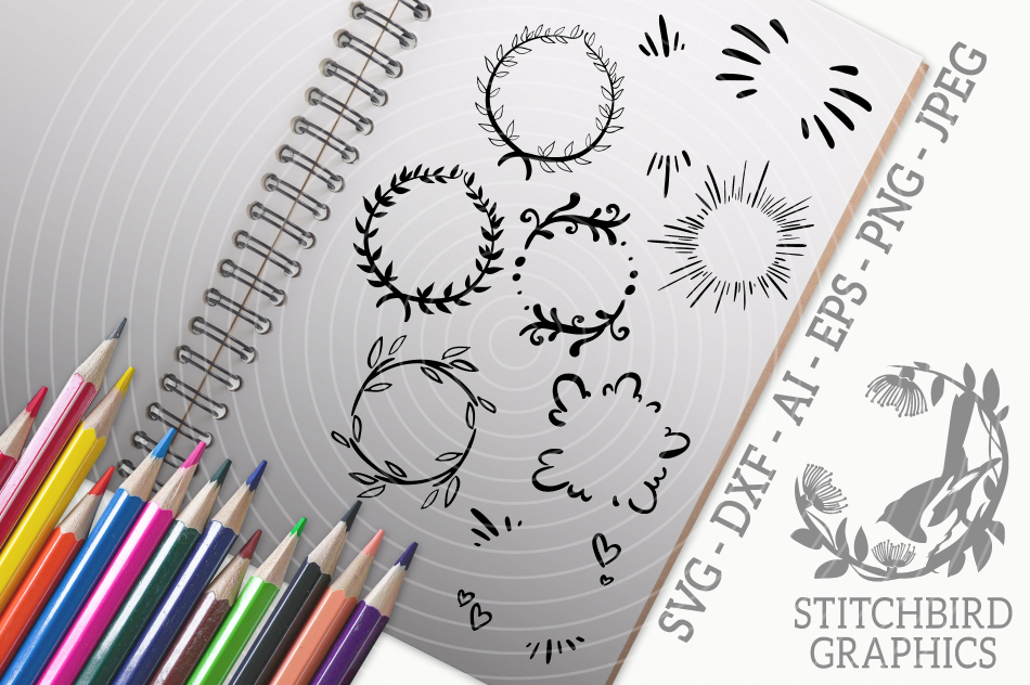 Star Burst Accents Svg Silhouette Studio Cricut Eps Dxf By