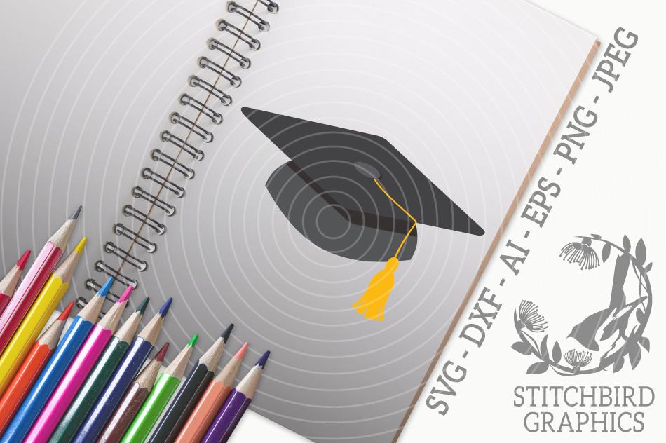 Graduation Cap Svg Silhouette Studio Cricut Eps Dxf Ai By