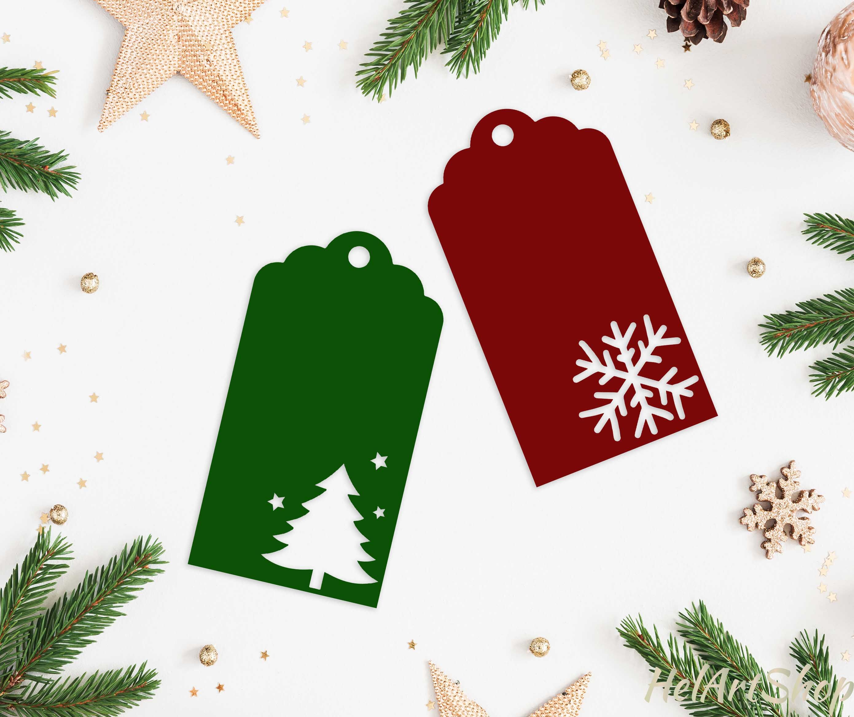 Christmas Gift Tags Svg Cutting File By Helartshop Thehungryjpeg Com