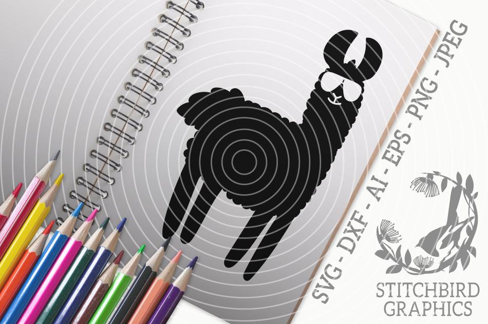 Llama 2 Svg Silhouette Studio Cricut Eps Dxf Ai Png Jpeg By
