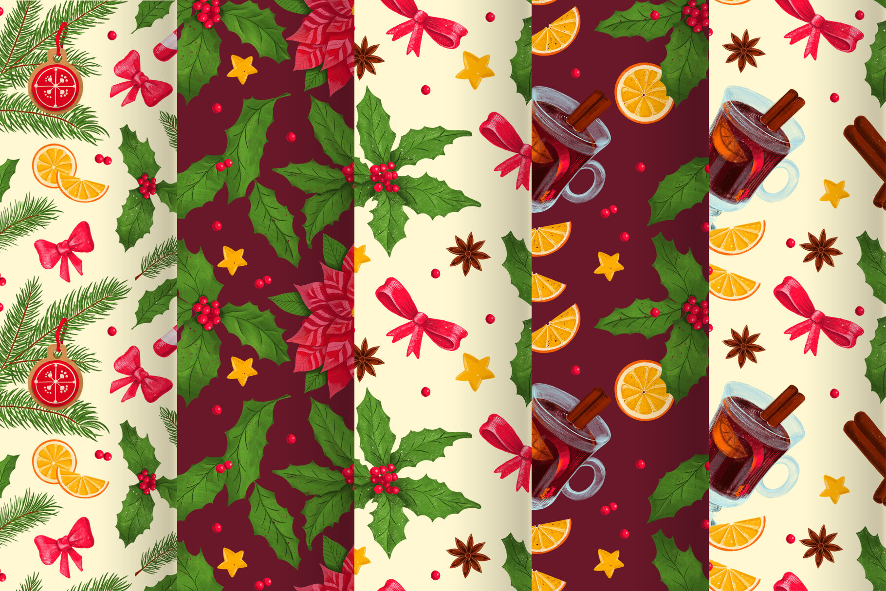 Christmas Digital Illustration Set By Kite Shop Thehungryjpeg Com