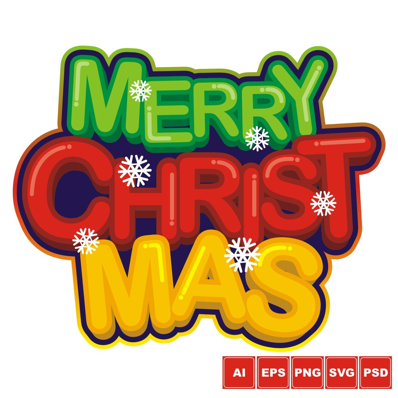merry christmas logo design by azkaryzki thehungryjpeg com the hungry jpeg