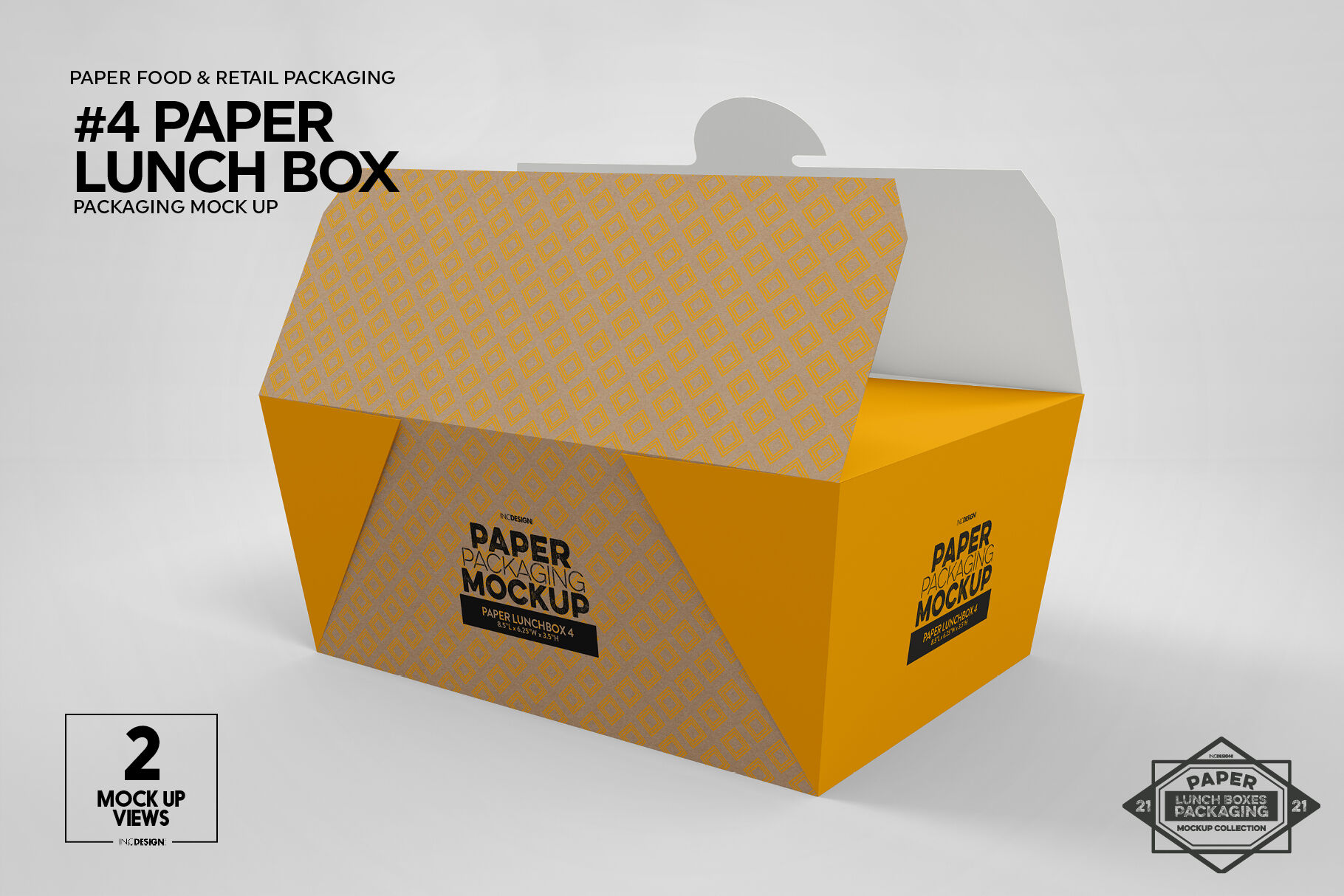 Box With Samples Packs Mockup