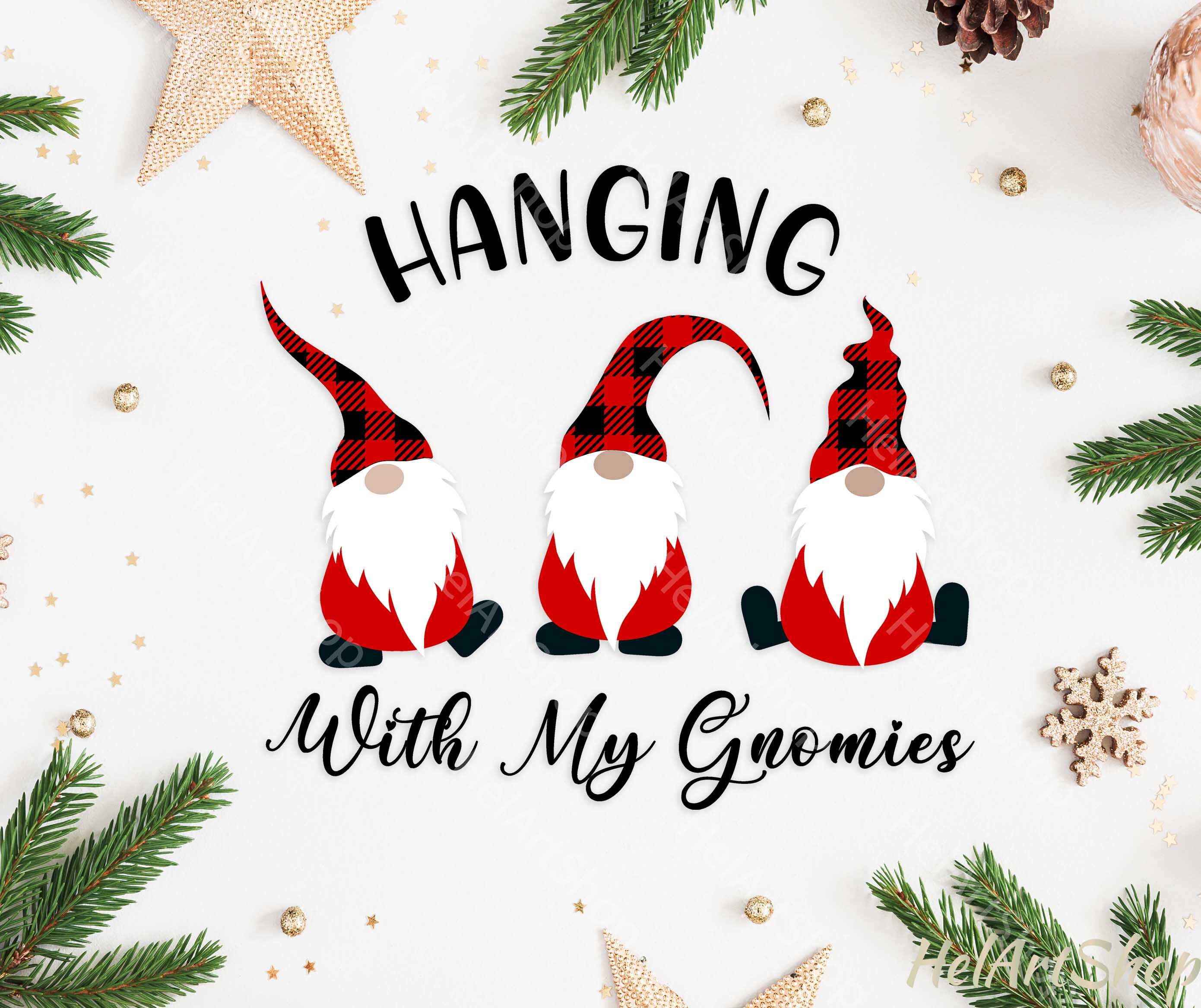 Christmas Gnome Hanging With My Gnomies Svg By Helartshop