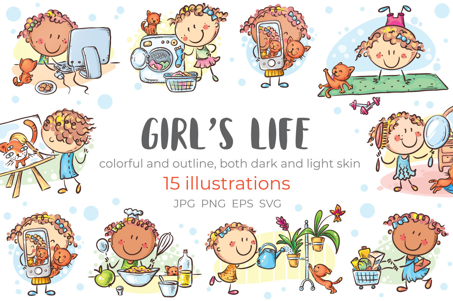 Girls Life Everyday Activities Daily Routine By Optimistic Kids