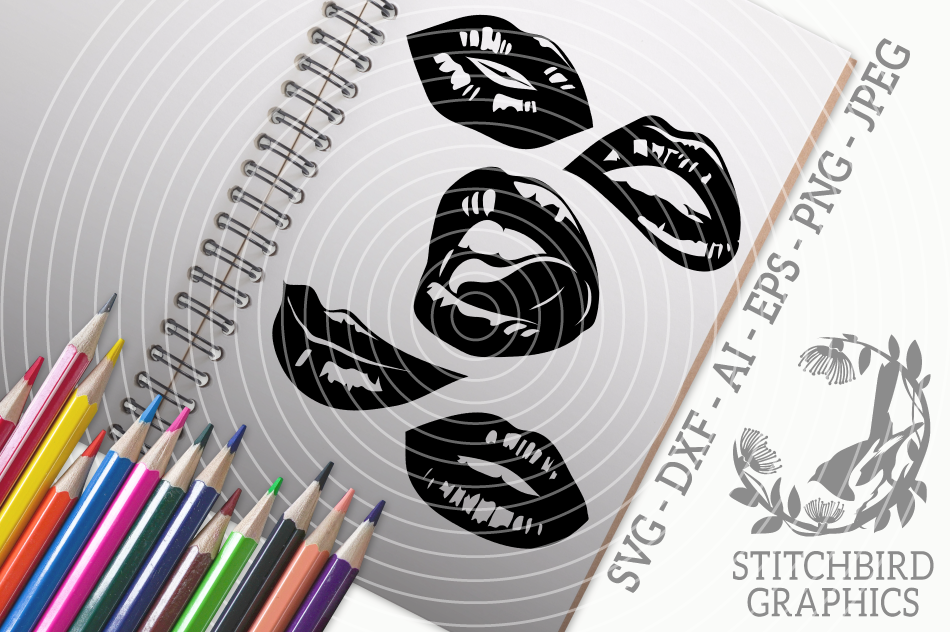 Lips Bundle Svg Silhouette Studio Cricut Eps Jpeg Png By