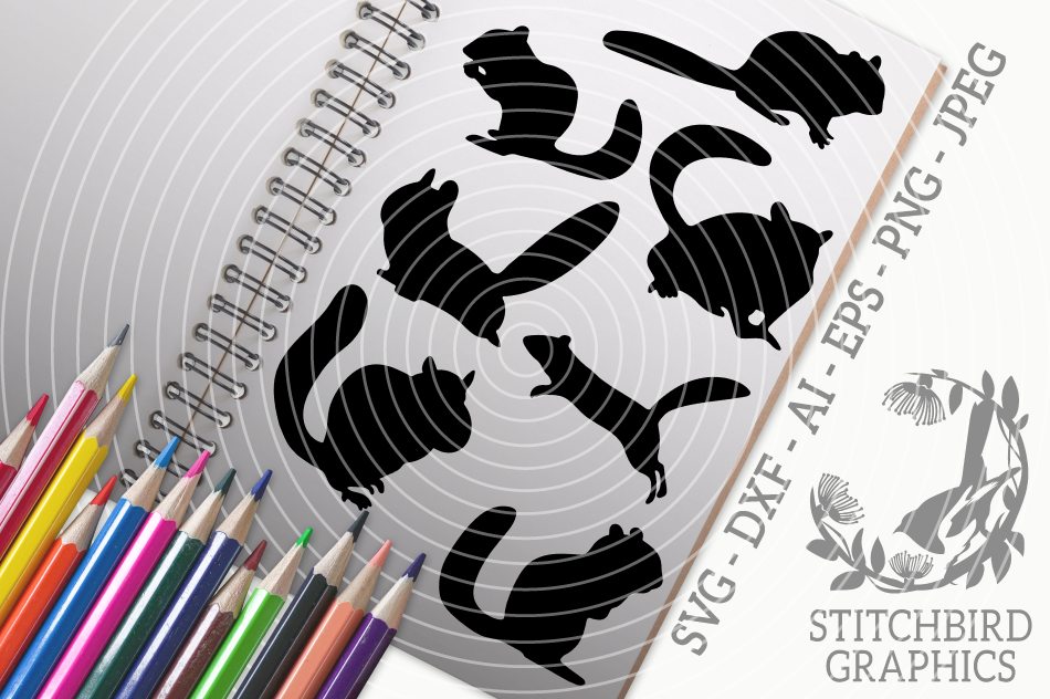 Chipmunks Bundle Svg Silhouette Studio Cricut Eps Jpeg By