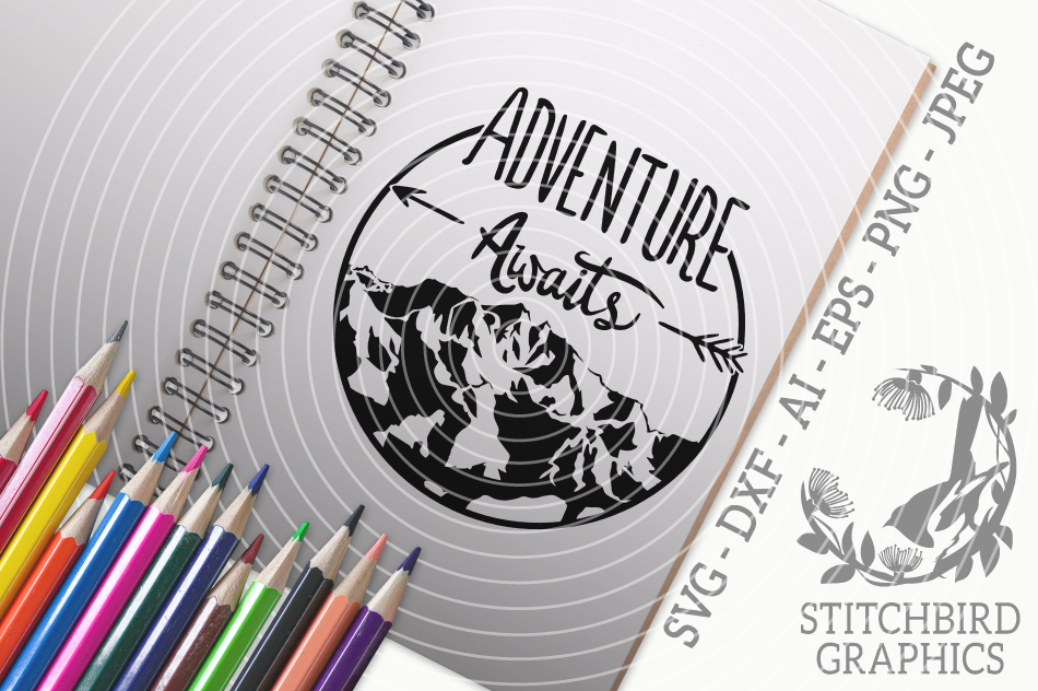 Adventure Awaits Mountain Svg Silhouette Studio Cricut Eps Dxf