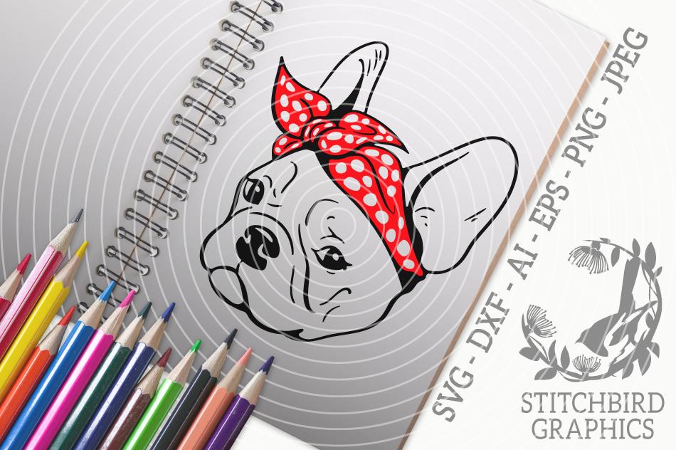 French Bulldog Bandana Svg Silhouette Studio Cricut Eps Dxf