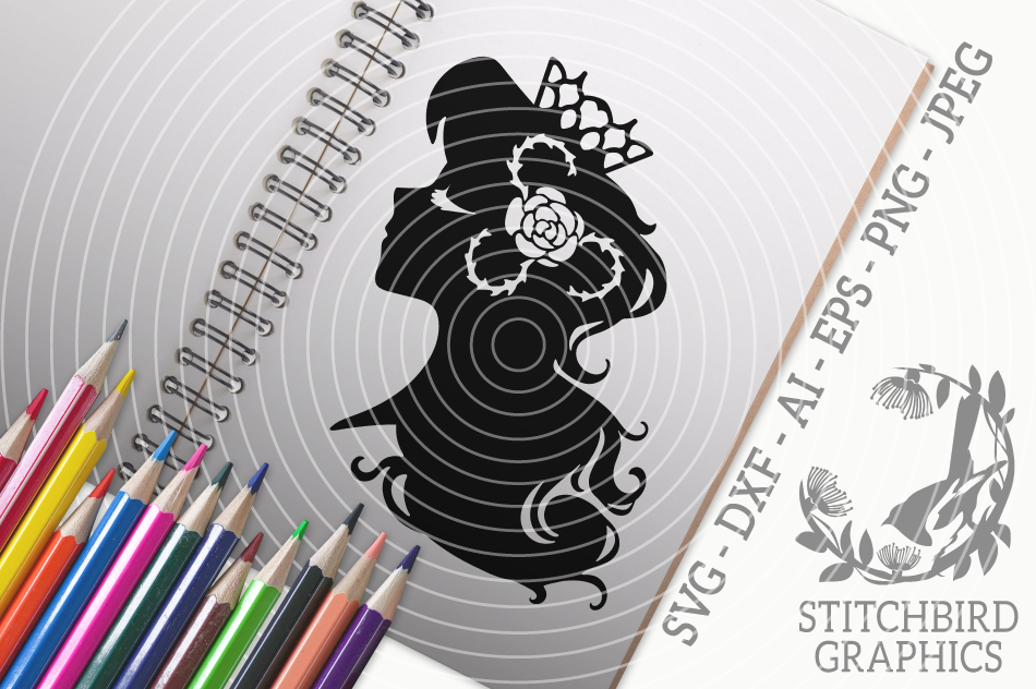 Sleeping Beauty Svg Silhouette Studio Cricut Eps Dxf Ai Png