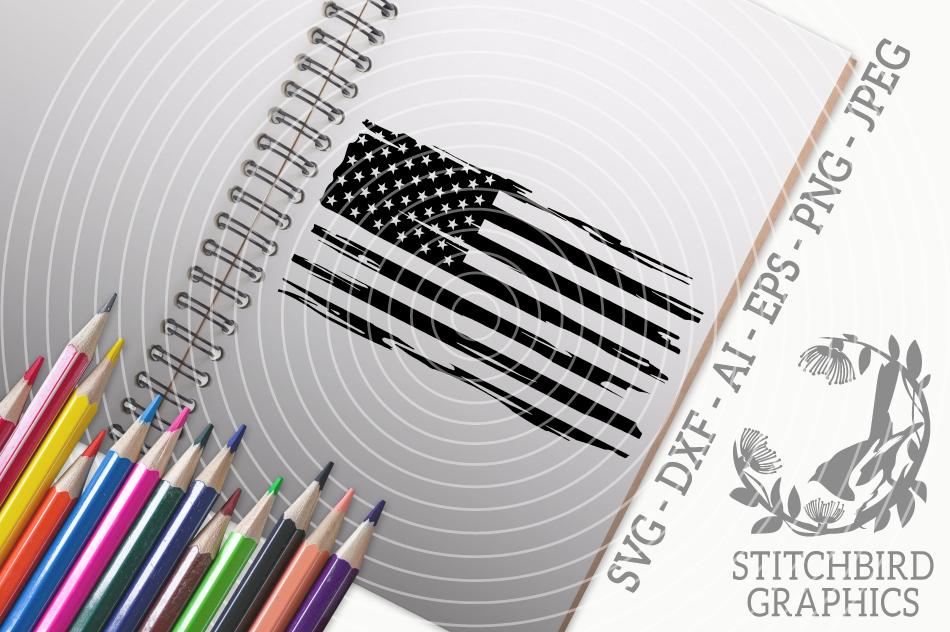Distressed American Flag Svg Silhouette Studio Cricut Eps Dxf