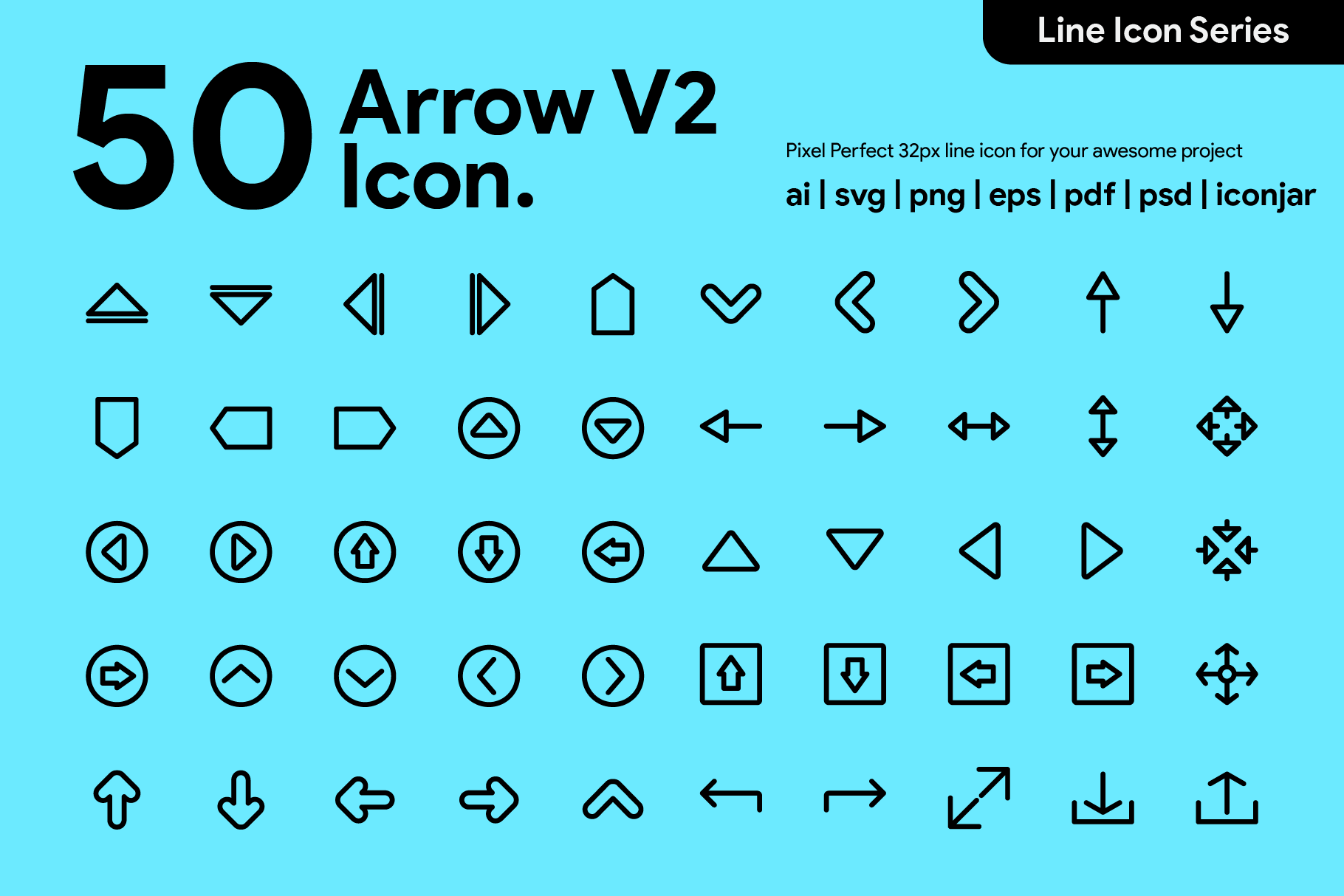 50 Arrow Line Icon By Kawalanicon Thehungryjpeg Com