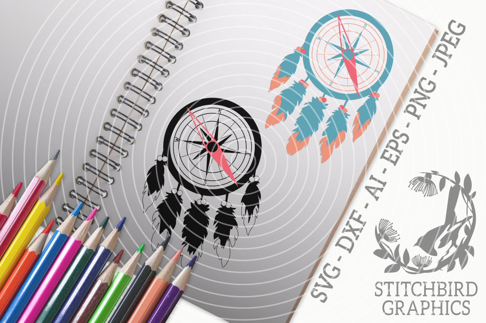 Compass Dreams Svg Silhouette Studio Cricut Eps Jpeg By