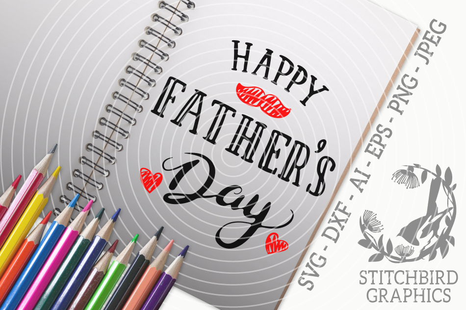 Happy Father S Day 1 Svg Silhouette Studio Cricut Eps Dxf Ai