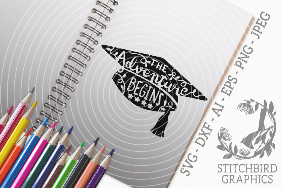 The Adventure Begins Graduation Svg Silhouette Studio Cricut