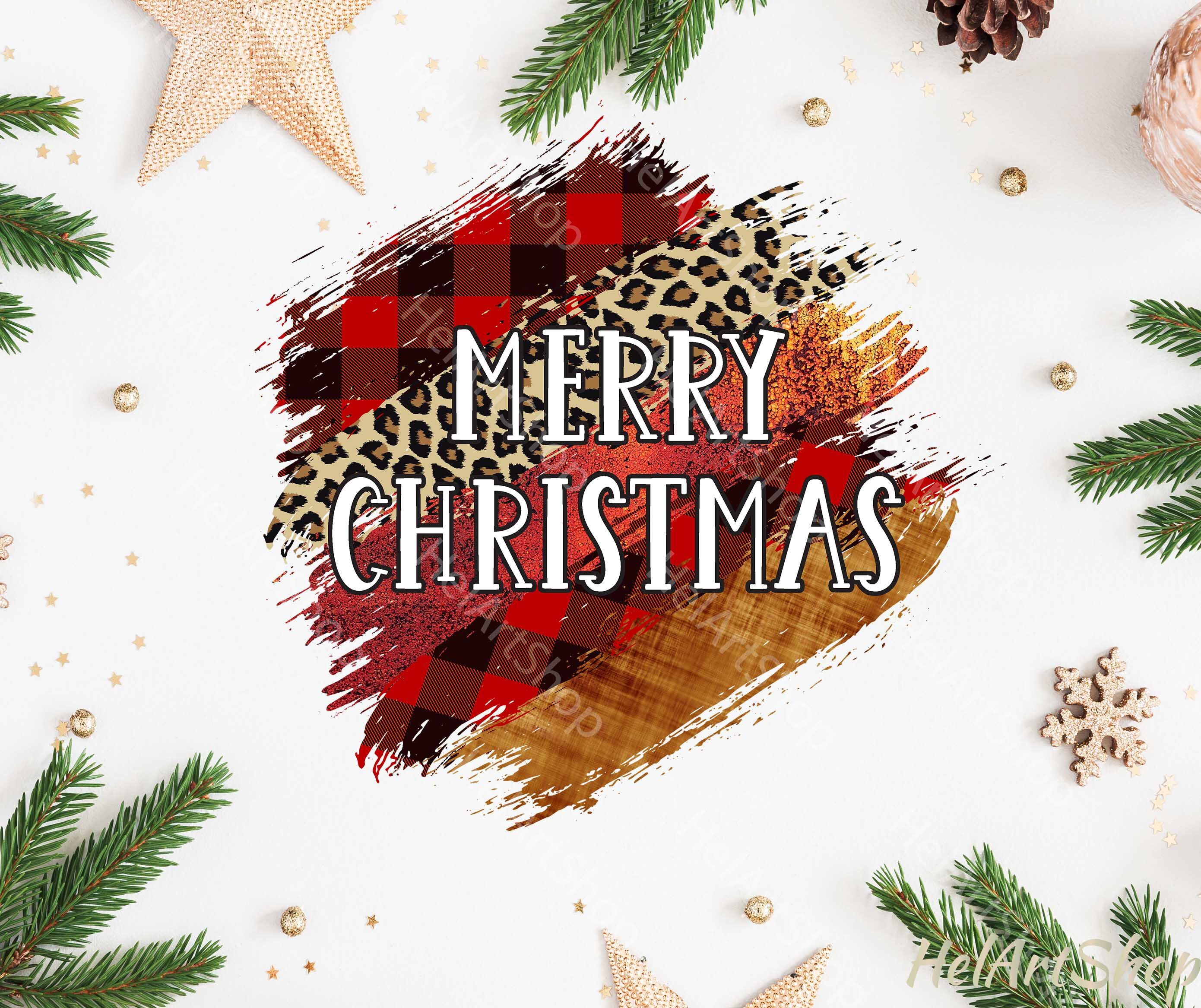 Merry Christmas Brush Stroke Png Sublimation Design By Helartshop