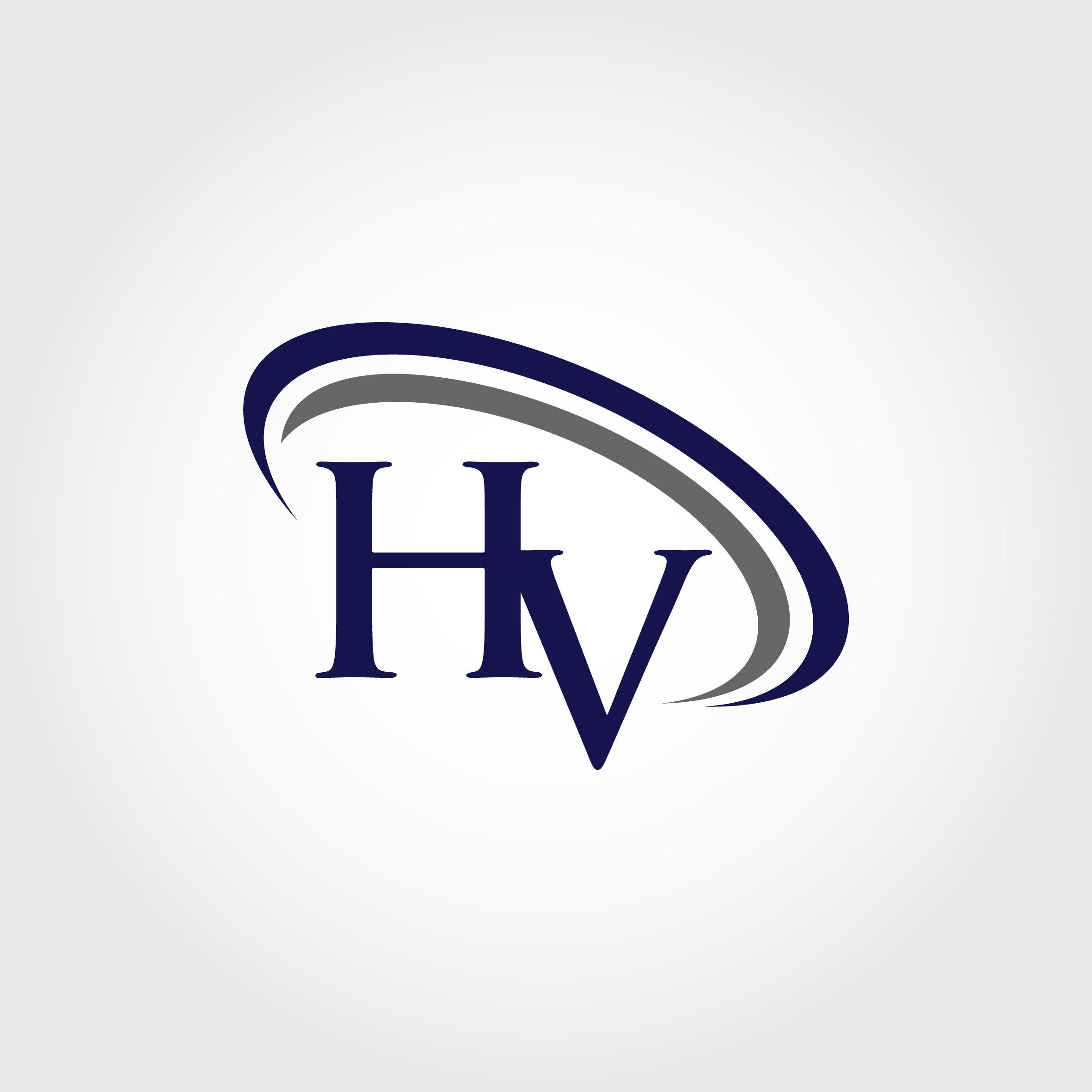 Monogram Hv Logo Design By Vectorseller Thehungryjpeg Com