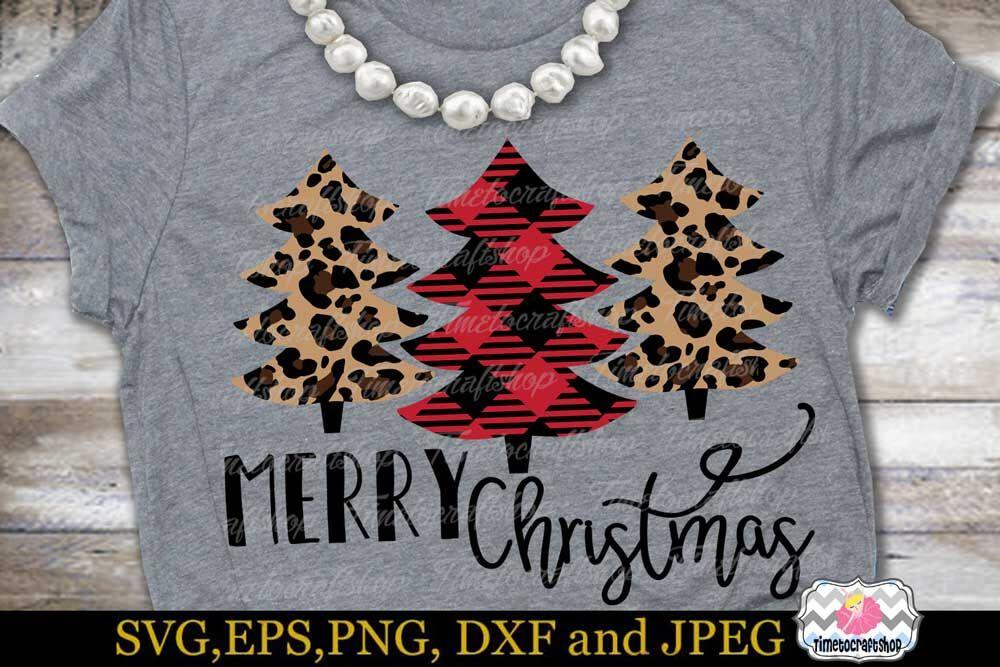 Svg Dxf Eps Png Merry Christmas Buffalo Plaid Christmas Tree