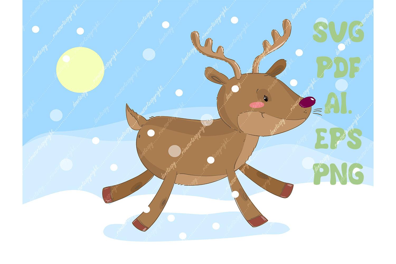 Christmas Reindeer Svg Download Deer Png North Nature Winter
