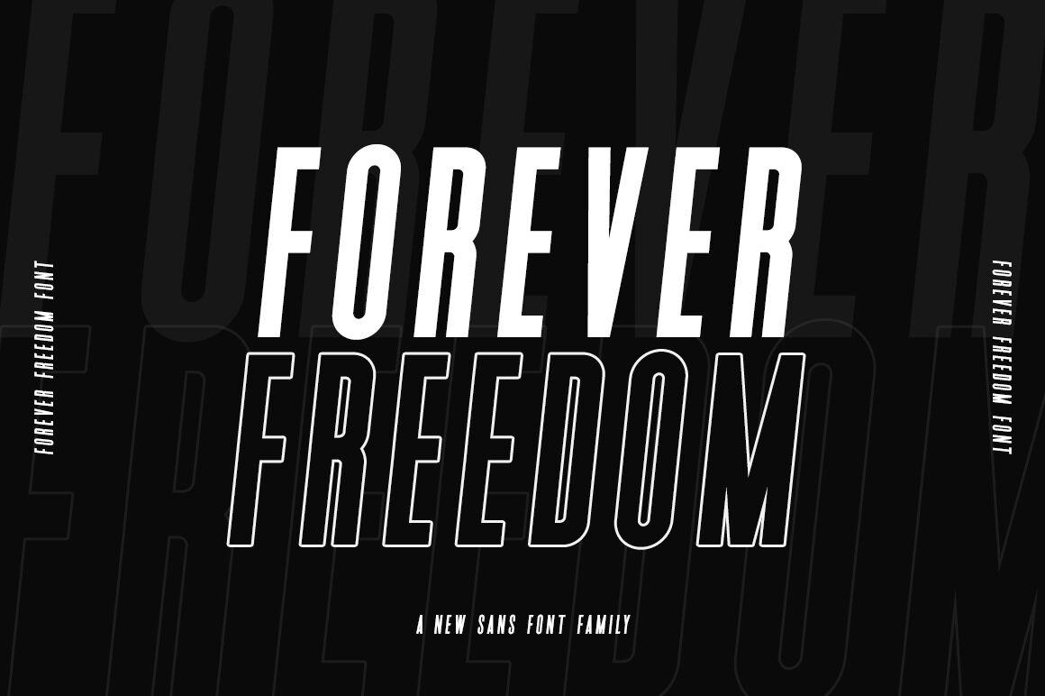 Forever Freedom Font Family By Salt Pepper Designs